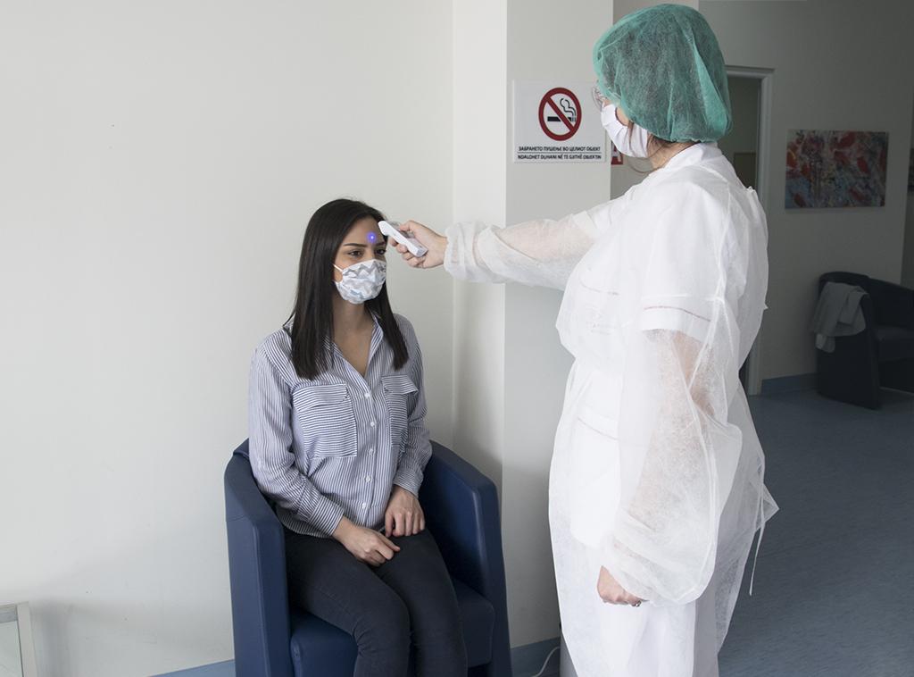 Мерење на температура во Систина Офталмологија Гостивар