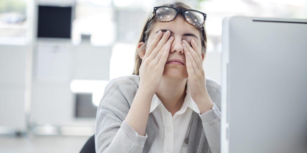 онлајн настава заморени очи